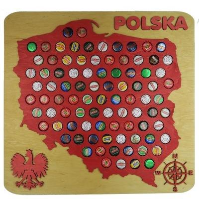 польский  Карт 3Da 90x90 cmna Колпачки пиво Piwna