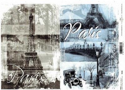 Papier ryżowy do decoupage R236 Paryż