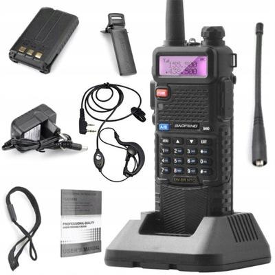 Baofeng UV-5R HTQ 8Wat 3800mAh Radiotelefon PMR