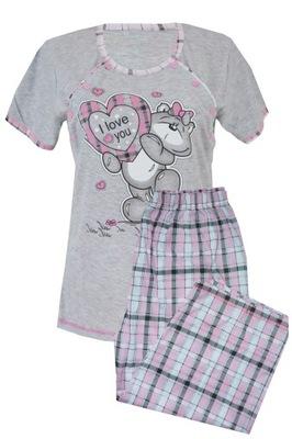 B987 Piżama ciążowa do karmienia po ciąży roz L