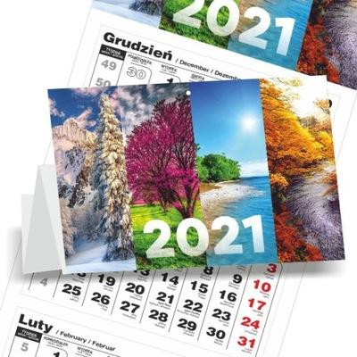 Kalendarz 2021 TRÓJDZIELNY ŚCIENNY 72 wzory tanio