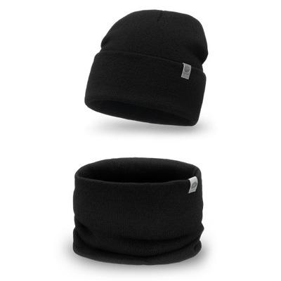 Sportowy komplet dla mężczyzn czapka komin tuba