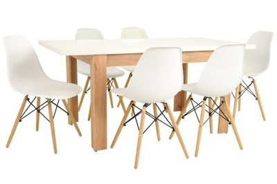 6 современных стульев и стол ?????????? ??? гостиную