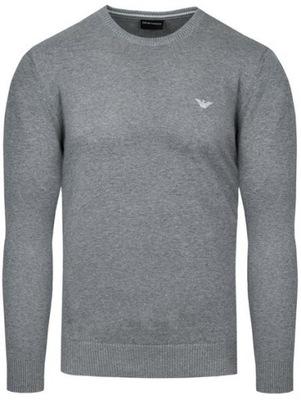 EMPORIO ARMANI sweter męski szary SW14 r.M