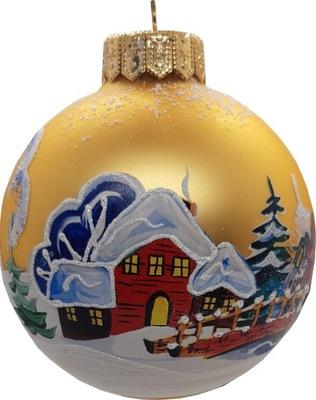 Традиционная стекло  новогоднее представление - 6059