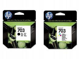 Tusze HP 703 zestaw czarny + kolor oryginalny