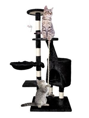 Veža Tree Cat Tower, 118 cm, čierny škrabák