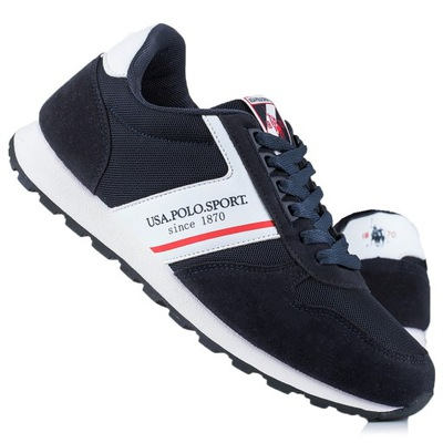 Buty sneakersy męskie USA Polo Sport Navy 4045