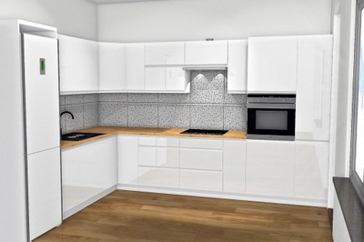 Комплексный Проект Кухни 3D Визуализации