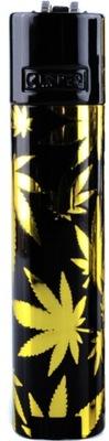 Zapalniczka Clipper stalowa Leaves Gold +etui