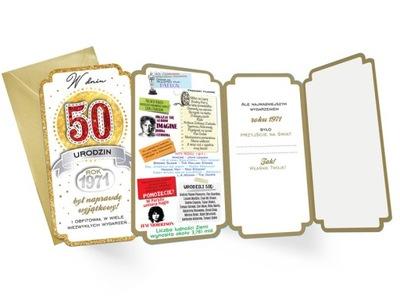 KARTKA 50 URODZINY ROK 1971 BYŁ WYJĄTKOWY 1szt