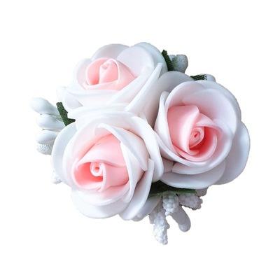 Spinka Kwiatek Róża Biało Łososiowa