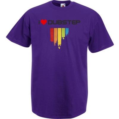 Koszulka z nadrukiem dubstep dub XXL fioletowa