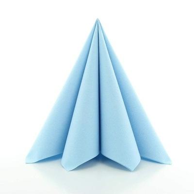 САЛФЕТКИ FLIZELINOWE 40х40 ЯСНО синие 50 штук