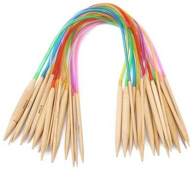 Druty na żyłce bambusowe 60 cm ( zestaw 18 sztuk )