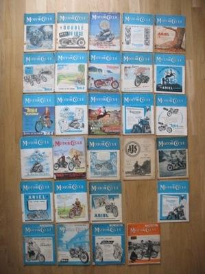 THE MOTOR CYCLE MOTORCYCLE 28 PIEZAS AÑOS 1949-59