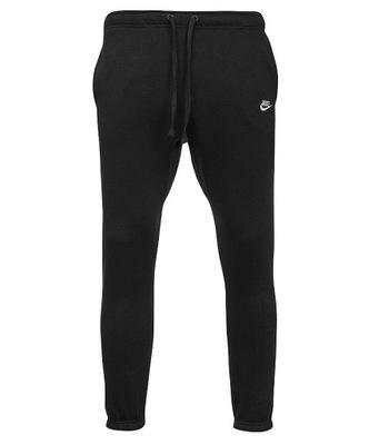Nike czarne spodnie męskie dresowe bawełna L