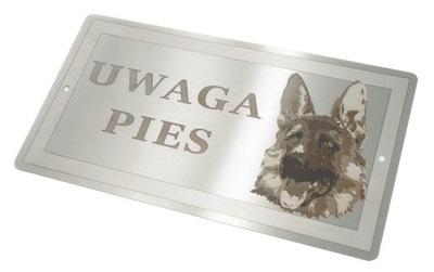 Табличка сталь ПРИМЕЧАНИЕ Собака Овца немецкий