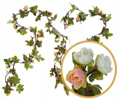 GIRLANDA GL2 kwiaty róże sztuczne kwiatowa na ślub