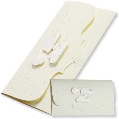 Pudełko koperta na pieniądze ślub pamiątka 3D 1