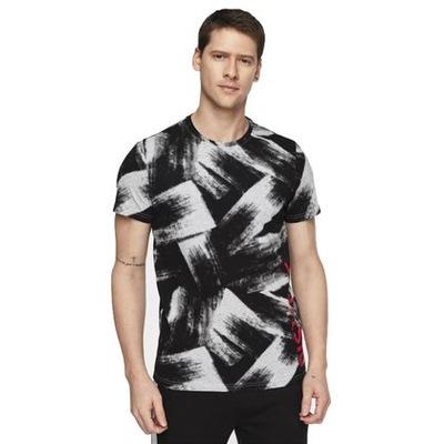 Koszulka T-shirt 4F TSM008 L20 szara czarna M