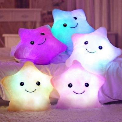 PODUSZKA zabawka GWIAZDKA LED świecąca maskotka