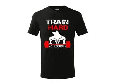 Koszulka z motywem Dragon Ball - siłownia trening