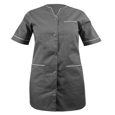 Żakiet medyczny damski szary/biały fartuch r.54