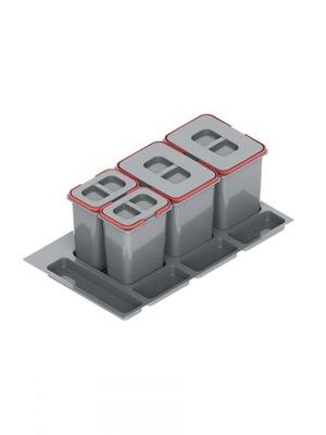 Корзина для мусора контейнер Круиз PRAKTIKO 90 2x15 2x7