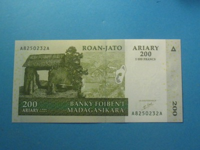 ?????????? Банкнот 200 Ариари 2004  - ! P-87a UNC