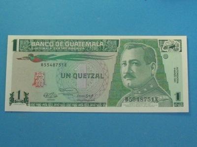 Gwatemala Banknot 1 Quetzal 1991 UNC P-73b
