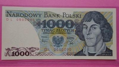1000 zł 1982, DL 0500090,st.I,FAJNY NR !
