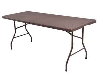 Ratan skladací stôl záhradný ratanový Banquet 180