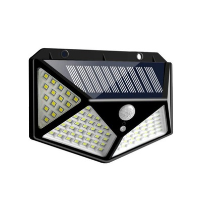 Solar Wall Light Four-sided 100 led Sensor Lamp