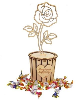 Prezent upominek pudełko na cukierki Kwiat Box