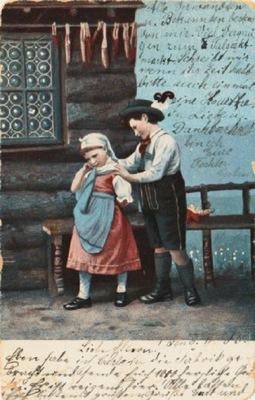 БЕЗ ЗАГОЛОВКА. МАЛЬЧИК ДЕВОЧКА . 1905 (Контур )