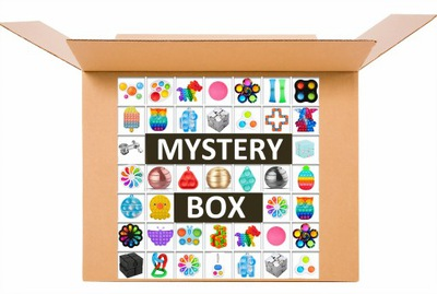 MYSTERY BOX ZESTAW FIDGET TOYS POP IT ANTYSTRESOWE