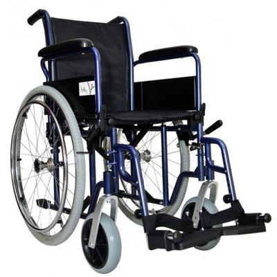 Klasyczny Wózek inwalidzki Stalowy Składany 50cm