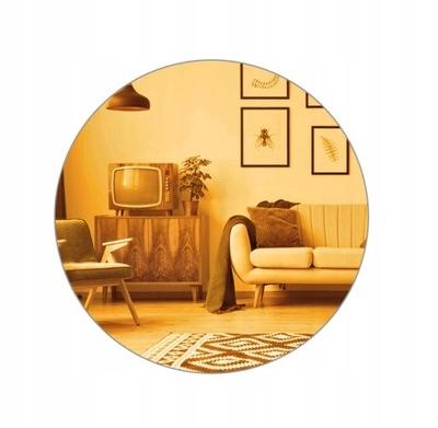 Okrúhle leštené nástenné zrkadlo 80 cm zlaté