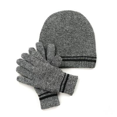 Komplet męski czapka z polarem i rękawiczki
