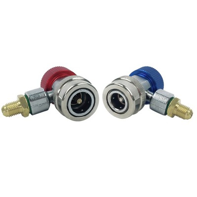 Adjustable AC R134A Quick Coupler Connector Adapte
