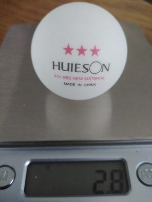 Piłeczki Huieson 3gwiazdkowe D40+ 10szt tenis stoł