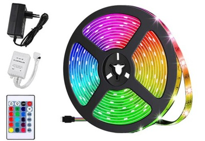 лента LED SMD водонепроницаемый 5М RGB КРАСОЧНАЯ пульт