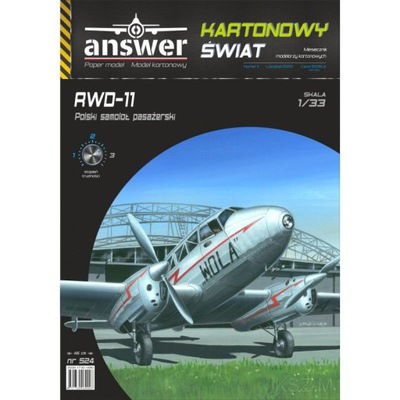 Ответ 524 - пассажирский Самолет RWD-11 , 1 :33