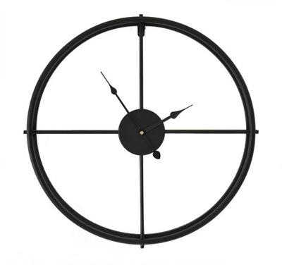 металлический часы instagram 50 СМ Черный чердак винтаж