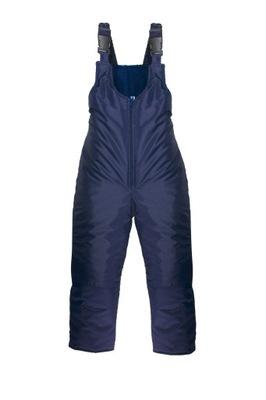 Ocieplane spodnie dziecięce zimowe kombinezon 104