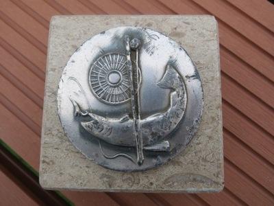 старый трофей рыбалка Мрамор олово