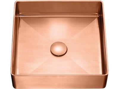 Umývadlo na dosku Laveo POLLA ružové zlato