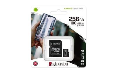 KINGSTON CANVAS micro SDXC 256GB ADAPTER 100MB/s