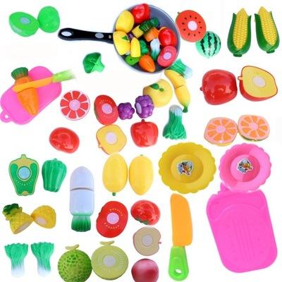 Zestaw warzywa do krojenia owoce koszyk kuchnia